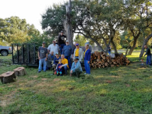 New Braunfels Evening Lions Club members and a neighbor