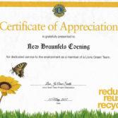 Service to the Environment Award