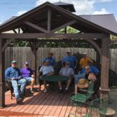 Building a Gazebo at the Crisis Center of Comal County